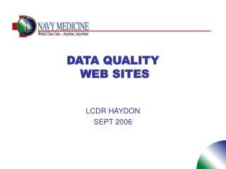DATA QUALITY  WEB SITES