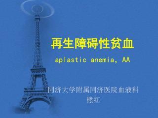 再生障碍性贫血 aplastic anemia , AA