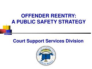 OFFENDER REENTRY:   A PUBLIC SAFETY STRATEGY