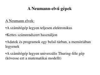 A Neumann-elv? g�pek