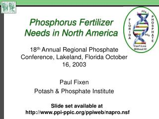 Phosphorus Fertilizer Needs in North America