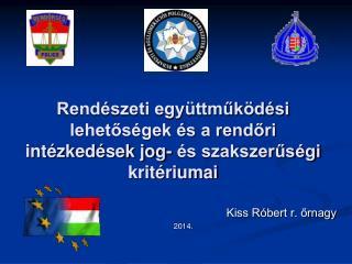 Rendészeti együttműködési lehetőségek és a rendőri intézkedések jog- és szakszerűségi  kritériumai
