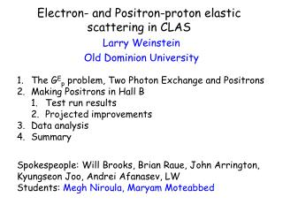 Electron- and Positron-proton elastic scattering in CLAS