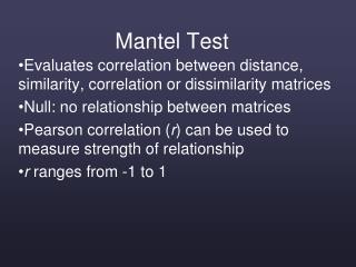 Mantel Test