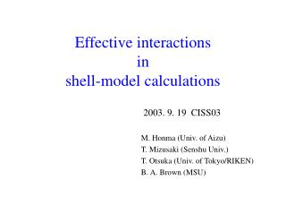 Effective interactions in shell-model calculations