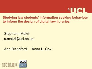 Studying law students' information seeking behaviour to inform the design of digital law libraries