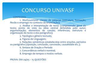 CONCURSO UNIVASF