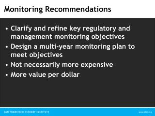 Monitoring Recommendations