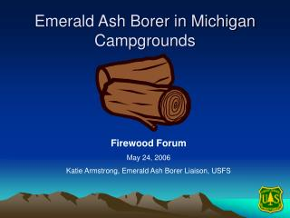 Emerald Ash Borer in Michigan  Campgrounds