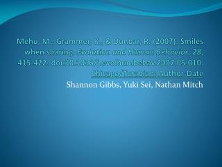 Shannon Gibbs, Yuki Sei, Nathan Mitch