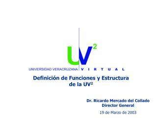 Dr. Ricardo Mercado del Collado Director General 19 de Marzo de 2003