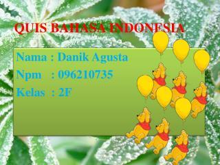 Q UIS BAHASA INDONESIA
