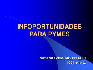 INFOPORTUNIDADES PARA PYMES