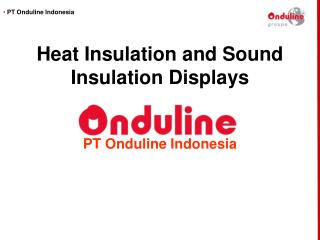 Heat Insulation and Sound Insulation Displays