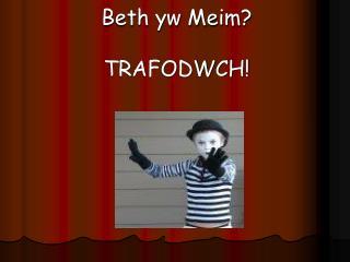Beth yw Meim? TRAFODWCH!