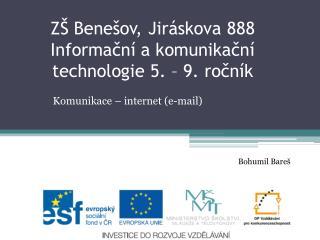Komunikace � internet (e-mail)