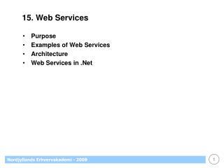 15. Web Services