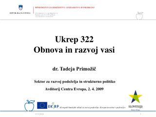 Ukrep 322  Obnova in razvoj vasi