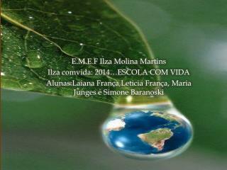 E.M.E. F  Ilza  Molina Martins  Ilza comvida : 2014…ESCOLA COM VIDA