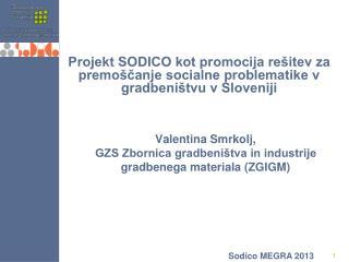 Valentina Smrkolj, GZS Zbornica gradbeništva in industrije gradbenega materiala (ZGIGM)