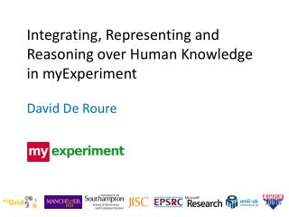 Integrating, Representing and Reasoning over Human Knowledge in myExperiment