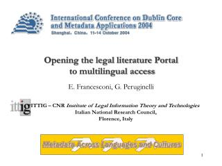 Opening the legal literature Portal to multilingual access