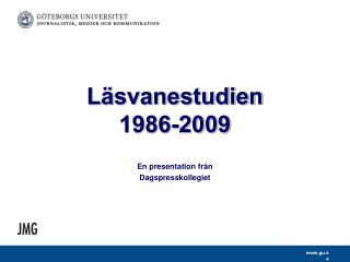 Läsvanestudien  1986-2009