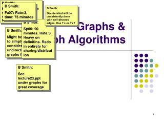 Graphs &  Graph Algorithms