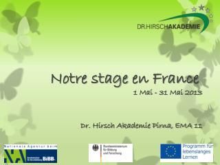 Notre  stage  en France