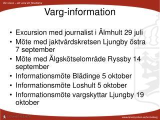 Varg-information