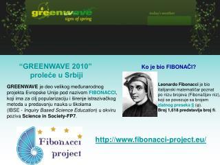 """""""GREENWAVE 2010""""  proleće u Srbiji"""