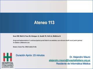 Ateneo 113