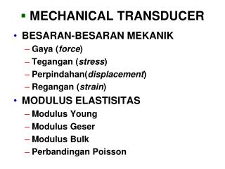 MECHANICAL TRANSDUCER