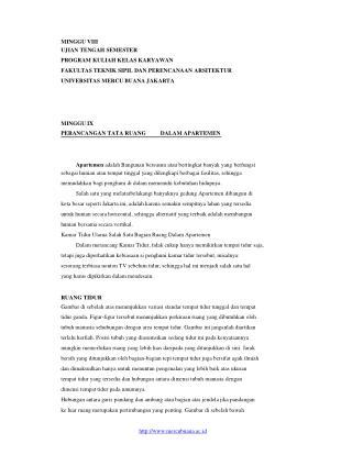 MINGGU VIII UJIAN TENGAH SEMESTER PROGRAM KULIAH KELAS KARYAWAN