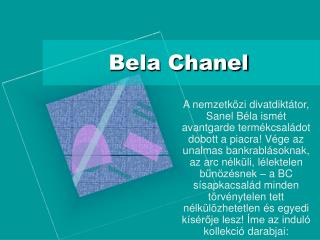 Bela Chanel