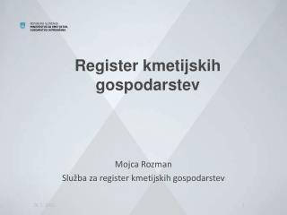 Register kmetijskih gospodarstev