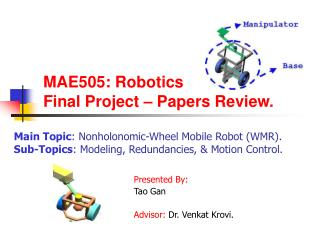 MAE505: Robotics Final Project   Papers Review.