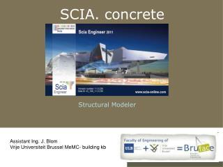 SCIA. concrete