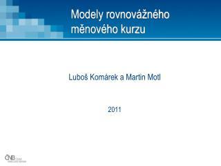 Modely rovnovážného měnového kurzu