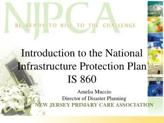 Introduction to the National Infrastructure Protection Plan IS 860