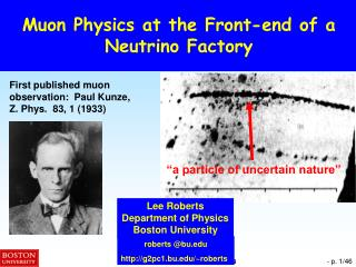 Muon Physics at the Front-end of a Neutrino Factory
