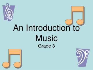 An Introduction to Music Grade 3
