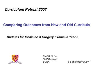 Updates for Medicine & Surgery Exams in Year 5
