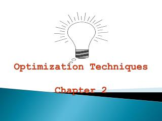 Optimization Techniques Chapter 2