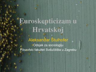 Euroskepticizam u Hrvatskoj