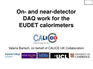 On- and near-detector  DAQ work for the  EUDET calorimeters