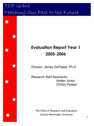 The Office of Research and Evaluation Central Washington University