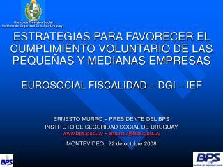 Banco de Previsión Social Instituto de Seguridad Social de Uruguay