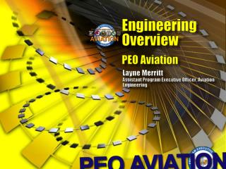 E ngineering Overview PEO Aviation