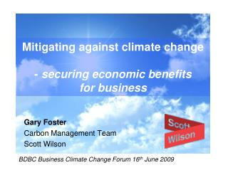 Mitigating against climate change -  securing economic benefits for business